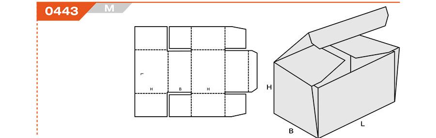 Раскрой коробки из картона